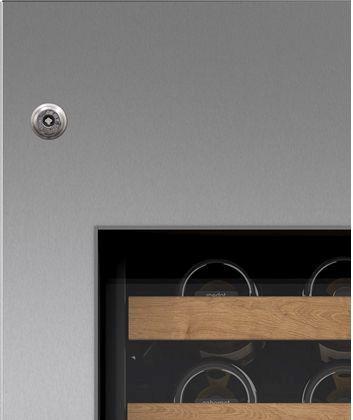 "Sub-Zero® 18"" Integrated Stainless Steel Wine Storage Door Panel with Tubular Handle and Lock-7025380"