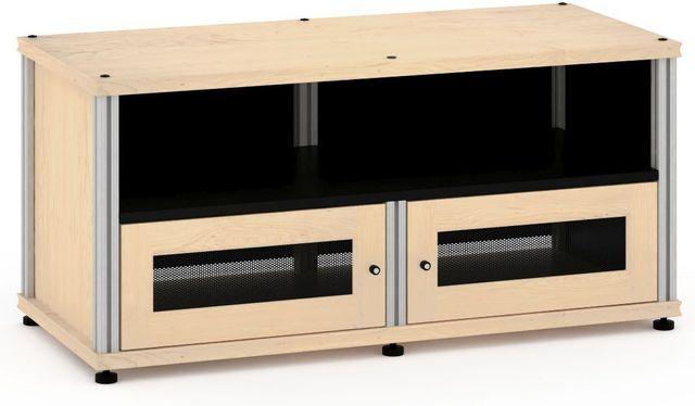 Salamander Designs® Synergy Model 229 AV Cabinet-Natural Maple/Aluminum-SB229M/A