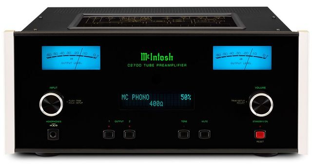McIntosh® 2-Channel Vacuum Tube Preamplifier-C2700