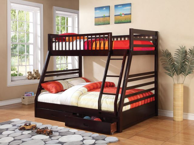 Coaster® Ashton Cappuccino Twin Over Full Youth Bunk Bed-460184