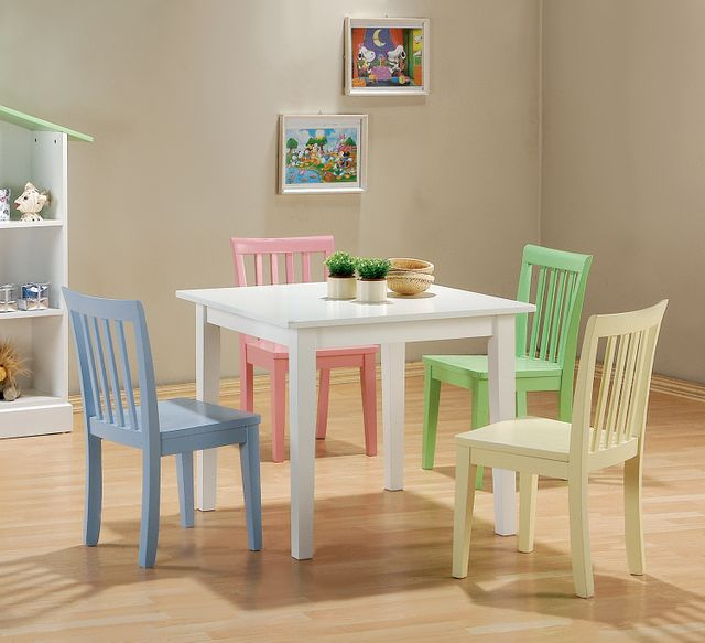 Coaster® Kinzie 5-Piece Youth Table and Chair Set-460235