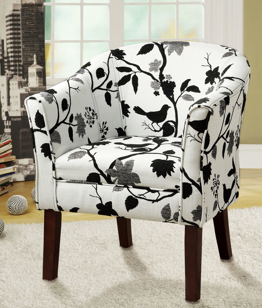 Coaster® Black and White Accent Seating Chair-460406