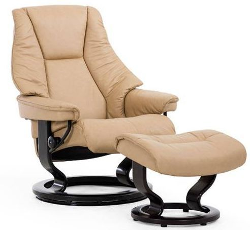 Stressless® by Ekornes® Live Large Classic Base Chair and Ottoman-1320015