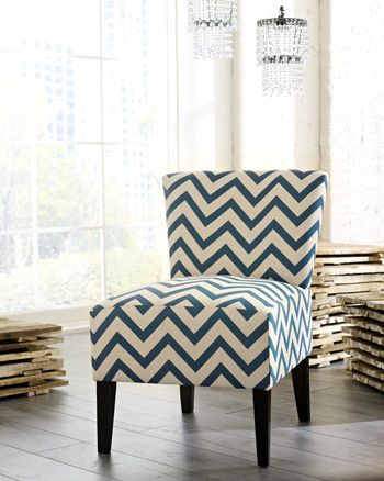 Signature Design by Ashley® Ravity Black-White Accent Chair-4630260