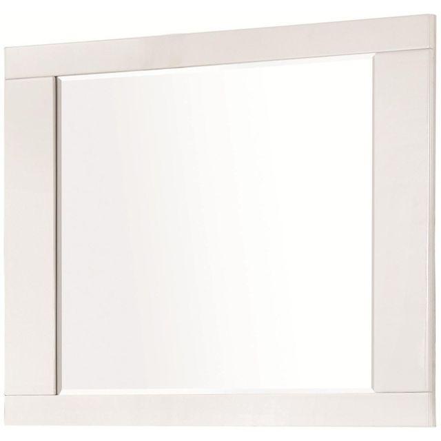 Coaster® Felicity Glossy White Mirror-203504