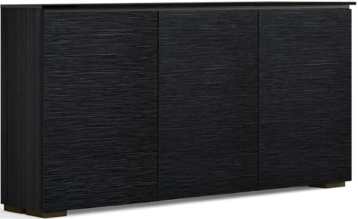 Salamander Designs® Chameleon Chicago Low Profile 337 Black Oak Glass Top AV Cabinet-C1/CH337/BO
