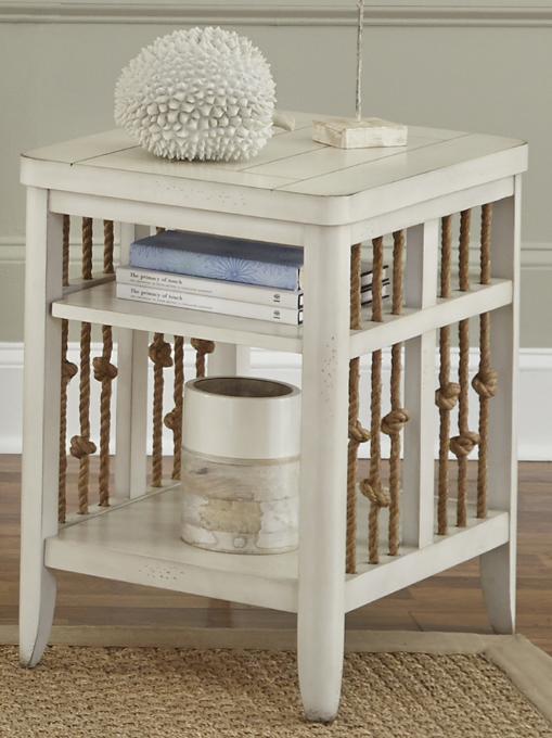 Liberty Furniture Dockside II White Chair Side Table-469-OT1021