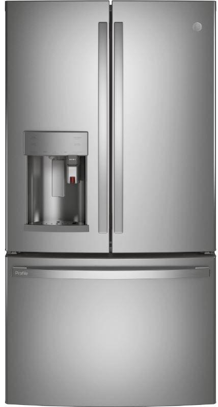 GE Profile™ 22.1 Cu. Ft. Fingerprint Resistant Stainless Steel Counter Depth French Door Refrigerator-PYE22PYNFS
