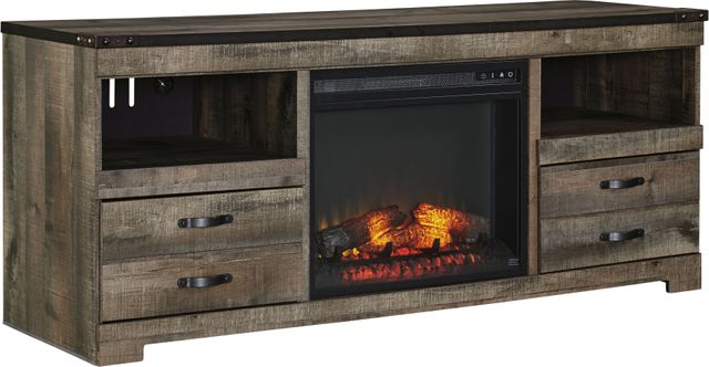 Signature Design by Ashley® Trinell Brown LG TV Stand with Fireplace Option-W446-68