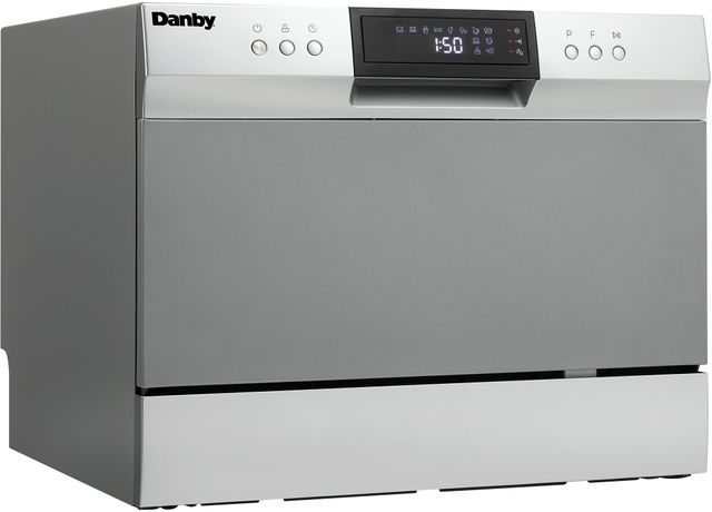 """Danby® 22"""" Stainless Steel Countertop Dishwasher-DDW631SDB"""