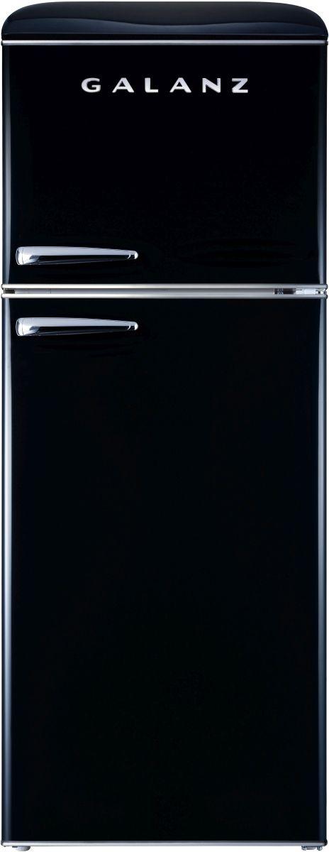 Galanz 10 Cu. Ft. Vinyl Black Retro Top Mount Refrigerator-GLR10TBKEFR