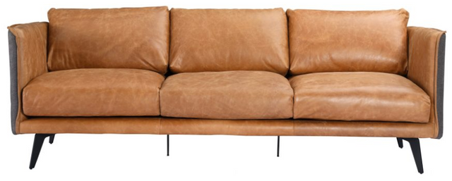 Moe's Home Collections Messina Cognac Leather Sofa-PK-1097-23