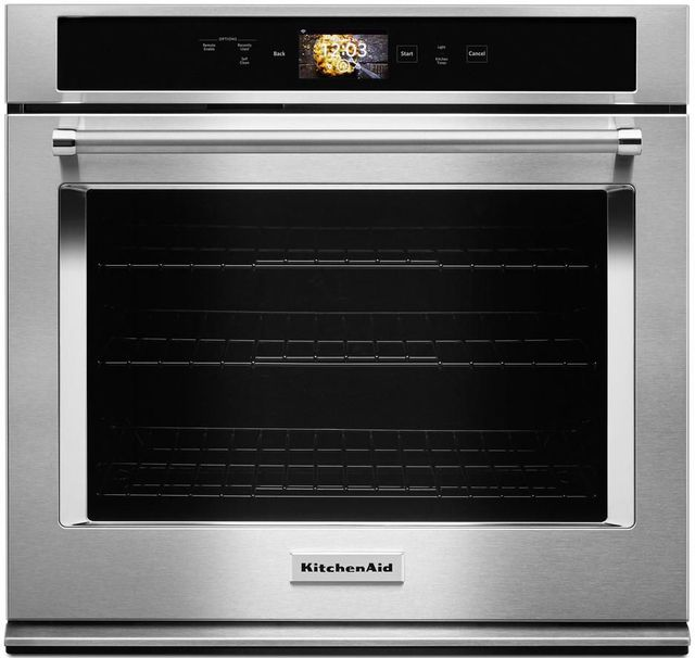 """KitchenAid® 30"""" Stainless Steel Smart Electric Single Oven Built In-KOSE900HSS"""