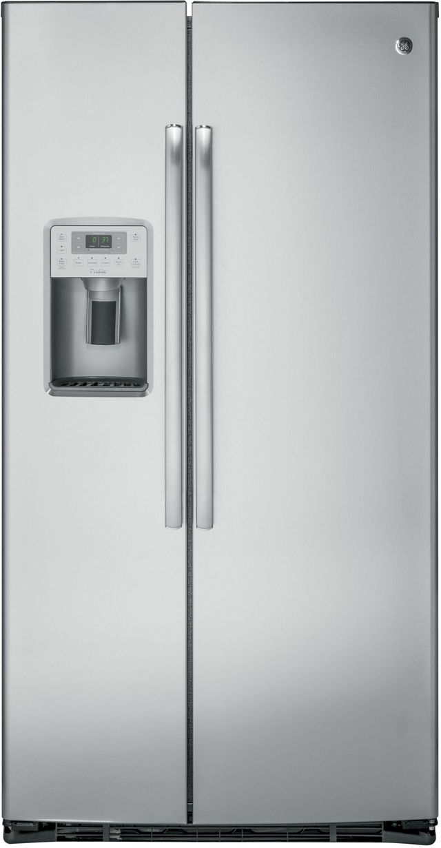 GE® Profile™ 21.94 Cu. Ft. Stainless Steel Counter-Depth Side-By-Side Refrigerator-PZS22MSKSS