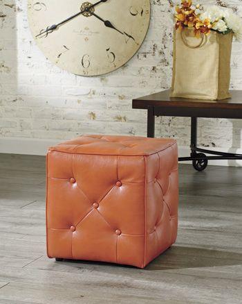 Signature Design by Ashley® Jive Orange Accent Ottoman-4740313