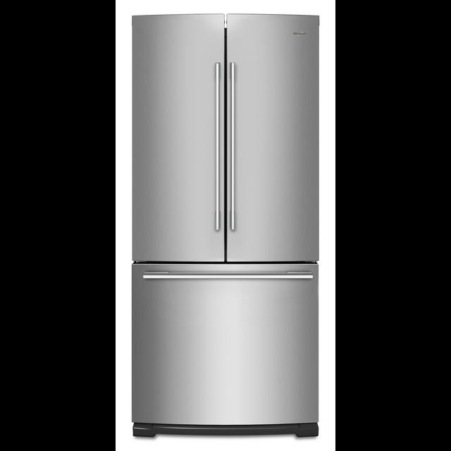 Réfrigérateur à portes françaises de 30 po Whirlpool® de 19,7 pi³ - Acier inoxydable résistant aux traces de doigts-WRFA60SFHZ