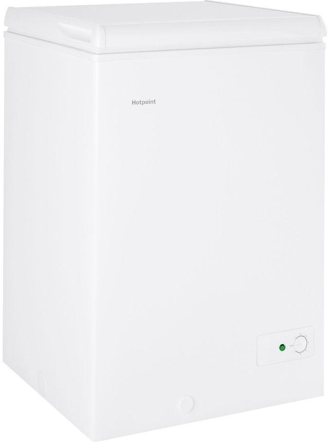 Hotpoint® 3.7 Cu. Ft. White Chest Freezer-HCM4SMWW