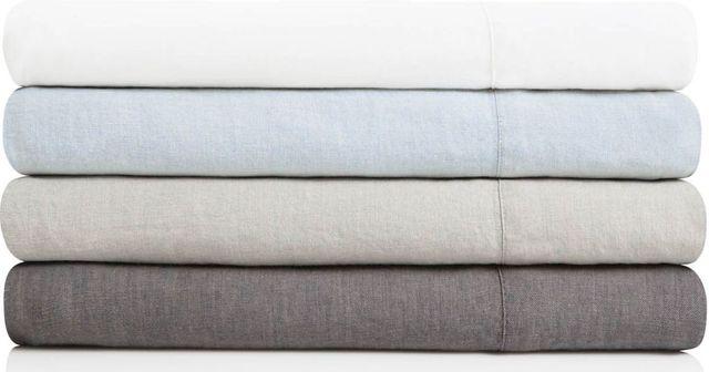 Malouf® Sleep Woven™ French Linen Queen Charcoal Pillowcase-WO162QQCCLC