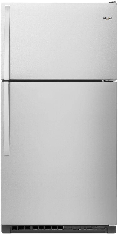 Whirlpool® 20.5 Cu. Ft. Top Freezer Refrigerator-Monochromatic Stainless Steel-WRT311FZDM