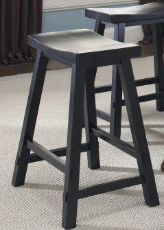 "Liberty Furniture Creations 30"" Sawhorse Black Barstool-48-B1830"