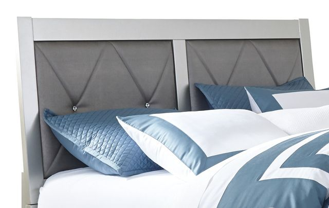 Signature Design by Ashley® Olivet Silver King and California King Upholstered Panel Headboard and Footboard-B560-82