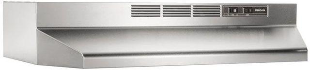 "Broan® 41000 Series 42"" Stainless Steel Ductless Under Cabinet Range Hood-414204"