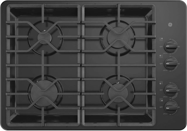 """GE® 30"""" Built-In Gas Cooktop-Black-JGP3530DLBB"""