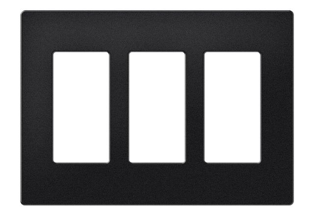 Crestron® Decorator Style 3-Gang Faceplate-Almond Smooth-FP-G3-A-S