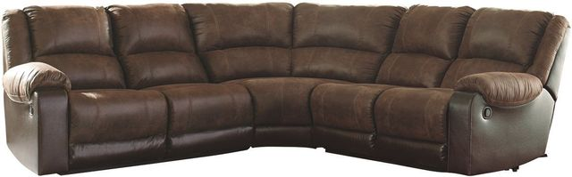 Signature Design by Ashley® Nantahala Coffee 5-Piece Reclining Sectional-50302S5