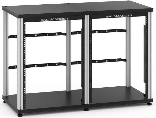 Salamander Designs® Synergy Twin 30 Rack Mount-Black/Aluminum-SN30RMB/A