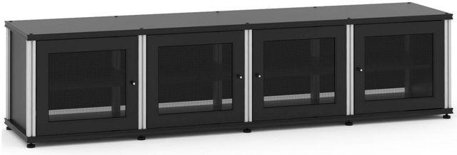 Salamander Designs® Synergy Model 247 AV Cabinet-Black/Aluminum-247B/A