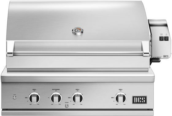 """DCS Series 9 35.94"""" Brushed Stainless Steel Built In Grill-BE1-36RC-N"""