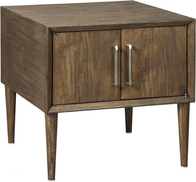 Signature Design by Ashley® Kisper Dark Brown Square End Table-T802-2