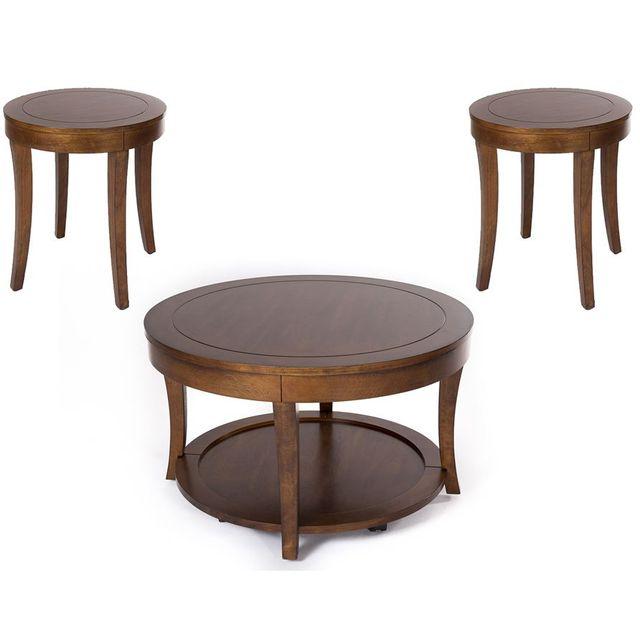 Liberty Furniture Casual Living Mahogany Occasional Table Set-168-OT3000
