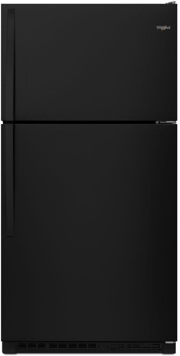 Whirlpool® 20.5 Cu. Ft. Top Freezer Refrigerator-Black-WRT311FZDB