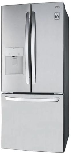 Réfrigérateur à portes françaises de 30 po LG® de 21,8 pi³ - Acier inoxydable résistant aux traces de doigts-LRFWS2200S