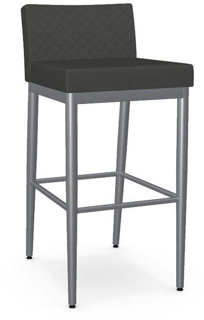 Amisco Hanson Non-Swivel Quilted Bar Stool-45409-30Q