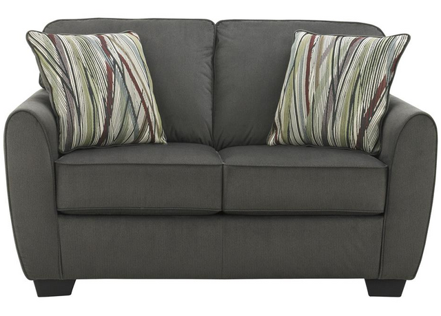 Signature Design by Ashley® Kyser Charcoal Loveseat-4950535