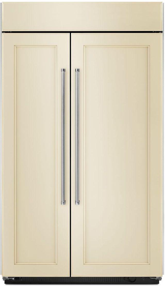 KitchenAid® 30.02 Cu. Ft. Panel Ready Built In Side-By-Side Refrigerator-KBSN608EPA