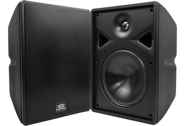 """Crestron® Saros® 8"""" 2-Way Surface Mount Indoor/Outdoor Speaker-Black-SAROS SR8T-B-T-EACH"""