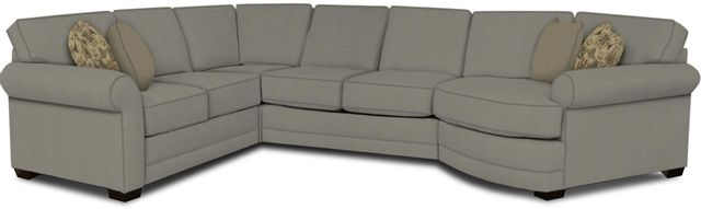 England Furniture Co. Brantley 4 Piece Culpepper Cement/Alvarado Mineral/Lavette Berry Sectional-5630-28-22-43-95+8612+8559+8601