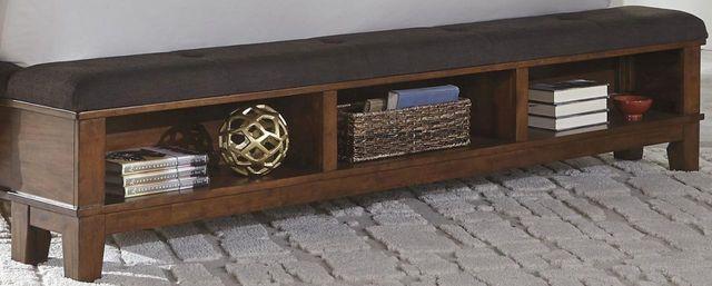 Ralene Dark Brown Queen Upholstered Storage Footboard-B594-54