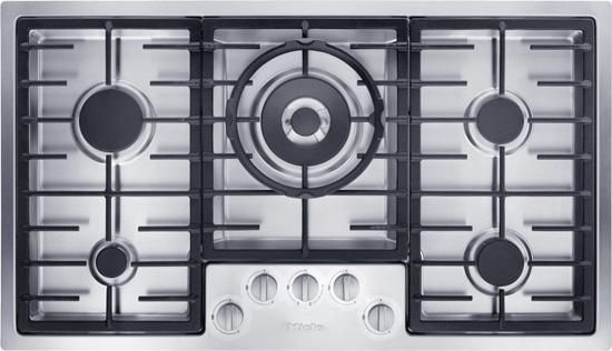 """Miele KM 2355 LP 36"""" Stainless Steel Gas Cooktop-KM2355LP"""