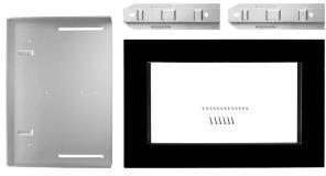 """KitchenAid 27"""" Microwave Trim Kit-Black-MK2227AB"""