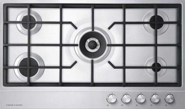 """Fisher & Paykel Series 7 36"""" Stainless Steel Gas Cooktop-CG365DLPX1 N"""