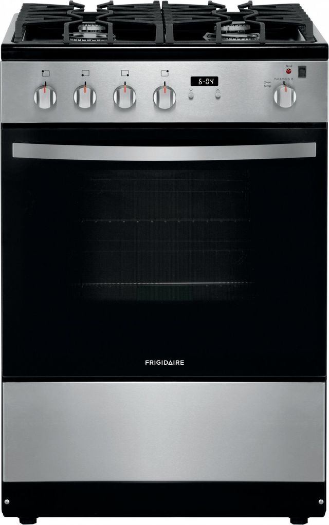 """Frigidaire® 24"""" Stainless Steel Free Standing Gas Range-FFGH2422US"""