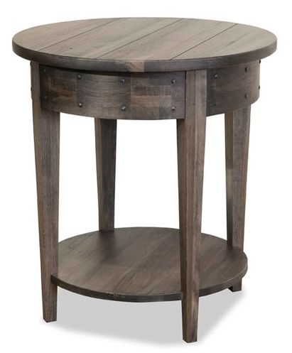 Durham Furniture Distillery Solid Accents Whiskey Round Lamp Table-401-538M