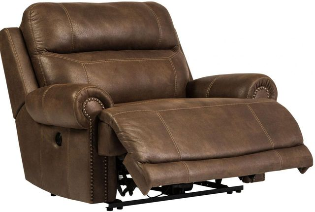 Signature Design by Ashley® Austere Brown Zero Wall Power Wide Recliner-3840082