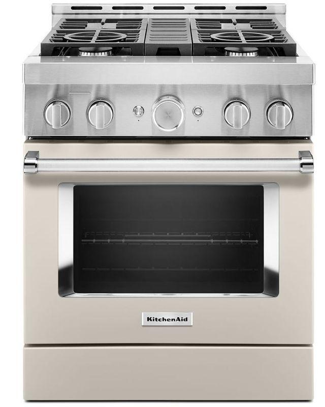 "KitchenAid® 30"" Milkshake Smart Commercial-Style Gas Range-KFGC500JMH"