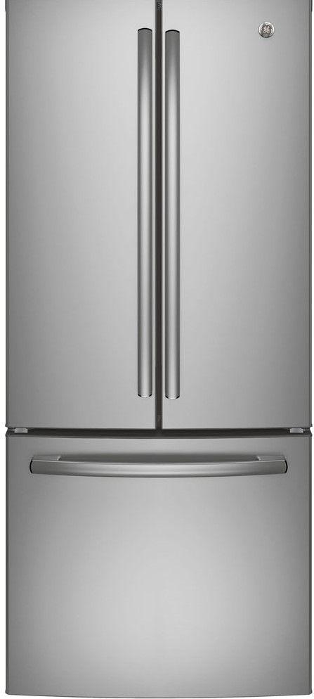 Réfrigérateur à portes françaises de 33 po GE® de 24,8 pi³ - Acier inoxydable-GNE25DSKSS